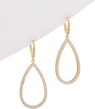 Rivka Friedman 18K Gold Clad Cz Tear Drop Earrings