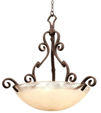 Kalco Grande 5 Light Unique Statement Bowl Pendant Finish Antique Copper Shade Type Gold Streaked Amber Shopstyle