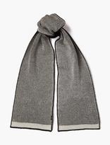 Stone Island Reversible Wool-blend Logo Scarf