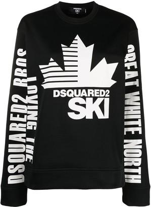 DSQUARED2 Ski logo-print sweatshirt