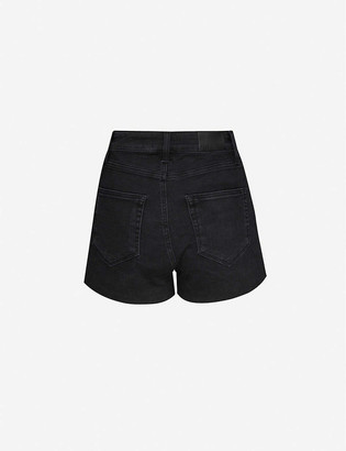 Paige Margot high-rise stretch-denim shorts
