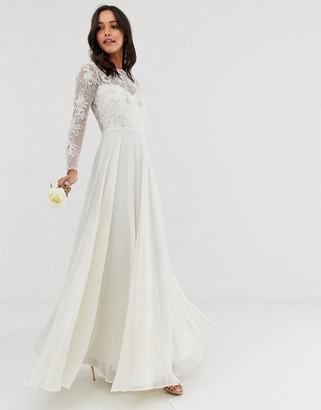 Asos EDITION embroidered & beaded wedding dress