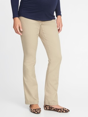 Old Navy Maternity Side-Panel Everyday Boot-Cut Khakis
