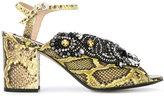 No.21 snakeskin effect sandals - women - Leather - 37