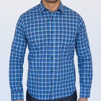 Blade + Blue Tonal Blue & White Mini Plaid Shirt - Wilson