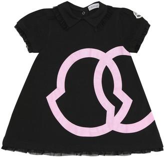 Moncler Enfant Baby logo stretch-cotton dress