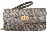 Mellow World Women's Layla Snakeskin Embossed Clutch Small