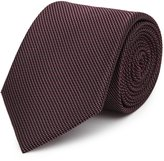 Reiss Bistel - Fleck-detail Silk Tie in Red, Mens