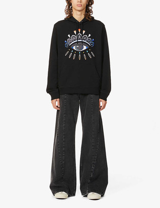 Kenzo Gradient-eye cotton-jersey hoody