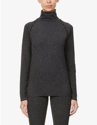 Varley Alexandria high-neck stretch-woven thermal top