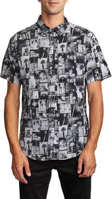 RVCA Grayscale Short Sleeve Button-Up Shirt
