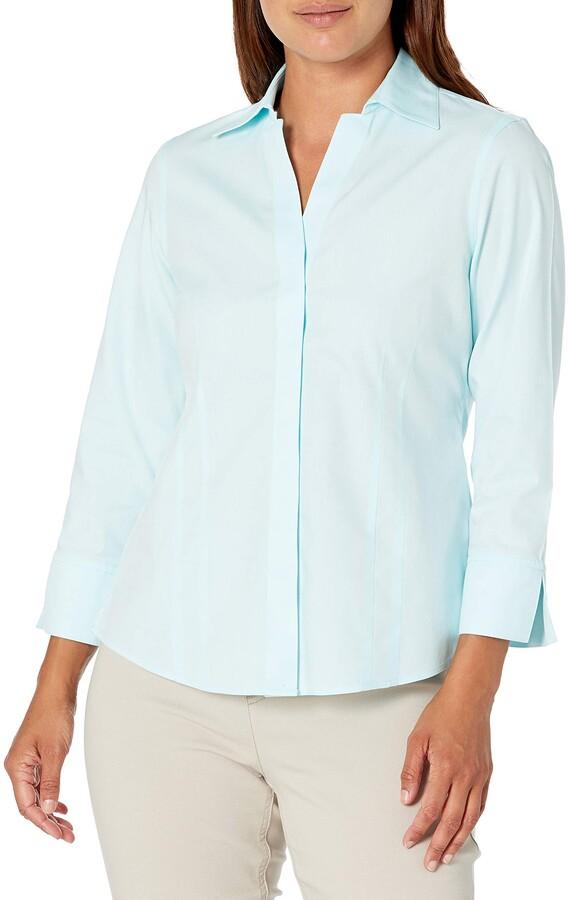 Thumbnail for your product : Foxcroft Women's Petite Taylor Non-Iron 3/4 SLV. Shirt