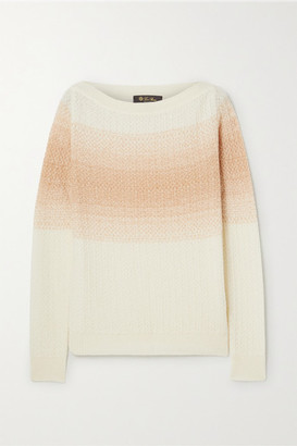 Loro Piana Ombre Cashmere And Silk-blend Sweater - Ivory