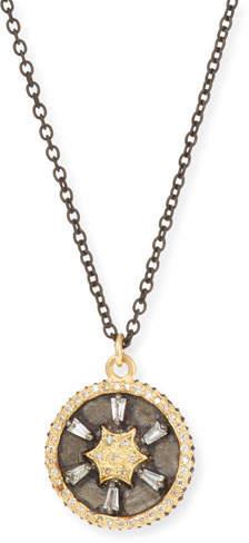 Armenta Old World 18k Gold/Silver Star Pendant Necklace w/ Diamonds