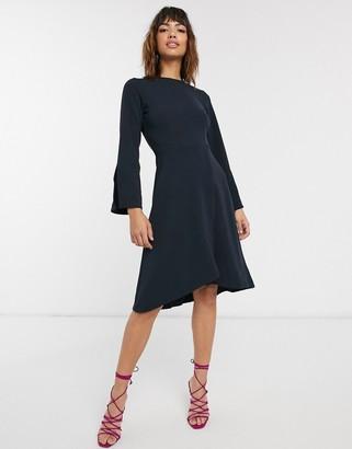 Closet London Closet long sleeve wrap skirt dress