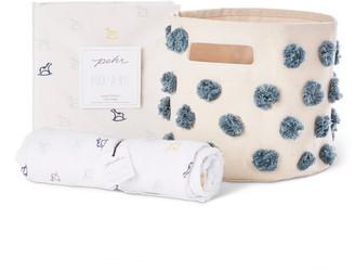Pehr Rock-a-Bye Crib Sheet, Swaddle & Canvas Bin Bundle Set