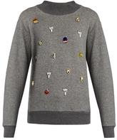 Muveil Embellished cotton-jersey sweatshirt