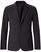 Jigsaw Seersucker Blazer Jacket, Charcoal