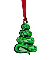Orrefors Holly Days Christmas Tree Ornament