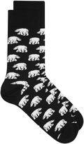 Topman Black Polar Bear Socks