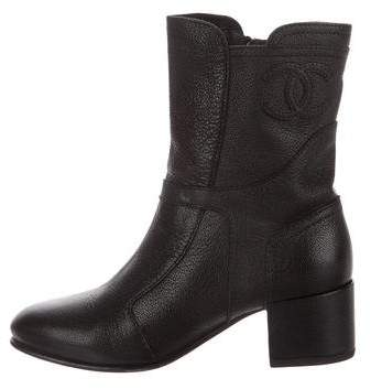 Chanel 2015 CC Ankle Boots