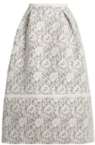 Erdem Kennedy floral-lace skirt