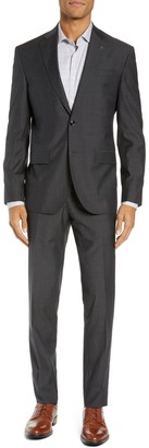 Ted Baker Roger Slim Fit Dobby Wool Suit