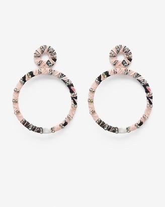 Express Beaded Double Circle Drop Earrings