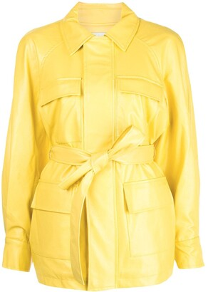 Apparis Faux-Leather Trench Coat