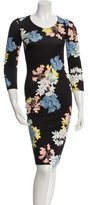 Erdem Bodycon Floral Print Dress