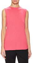 Carolina Herrera Silk Cashmere Sleeveless Top