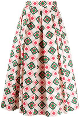 Aspesi A-line printed skirt