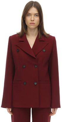 Double Breasted Cady Blazer Jacket