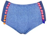 Jaded London **Denim Pom Pom High Waisted Bottoms