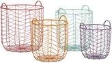 Imax Set of 4 Assorted Maya Metal Baskets