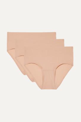Chantelle Soft Stretch Set Of Three Jersey Briefs - Sand