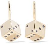 Alison Lou Hasbro Small Dice 14-karat Gold Diamond Earrings - one size