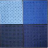 Lanvin Four-square Polka-dot Silk Pocket Square