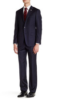 Hickey Freeman Pinstripe Two Button Notch Lapel Wool Suit