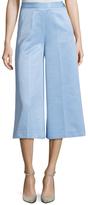 MSGM Cotton Solid Wide Leg Pant