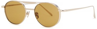 Linda Farrow Luxe Lou Gold-tone Round-frame Sunglasses
