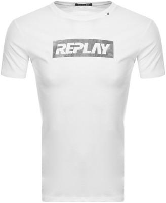Replay Crew Neck Logo T Shirt White