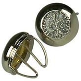 Forzieri Silver Plated Giglio Button Covers