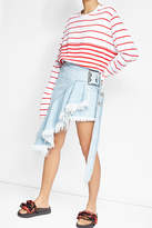 Marques Almeida Marques\' Almeida Mini Wrap Denim Skirt