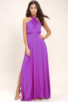 LuLu*s Ever After Purple Maxi Dress