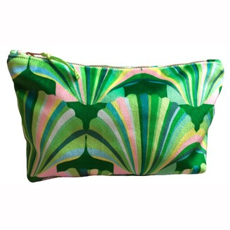 Chloe Croft London Limited Luxury Green Velvet Cosmetic Bag