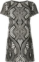 Alice + Olivia Alice+Olivia - geometric pattern mini dress - women - Acrylic/Polyester/Spandex/Elastane - 10