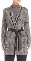 Escada Herringbone Printed Jacket