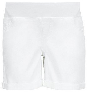 Dorothy Perkins Womens Dp Maternity White Denim Under Bump Shorts, White