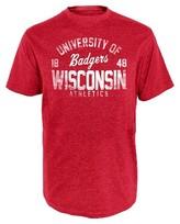 NCAA Wisconsin Badgers Men's Heather T-Shirt